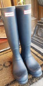 Matte Blue Hunter boots